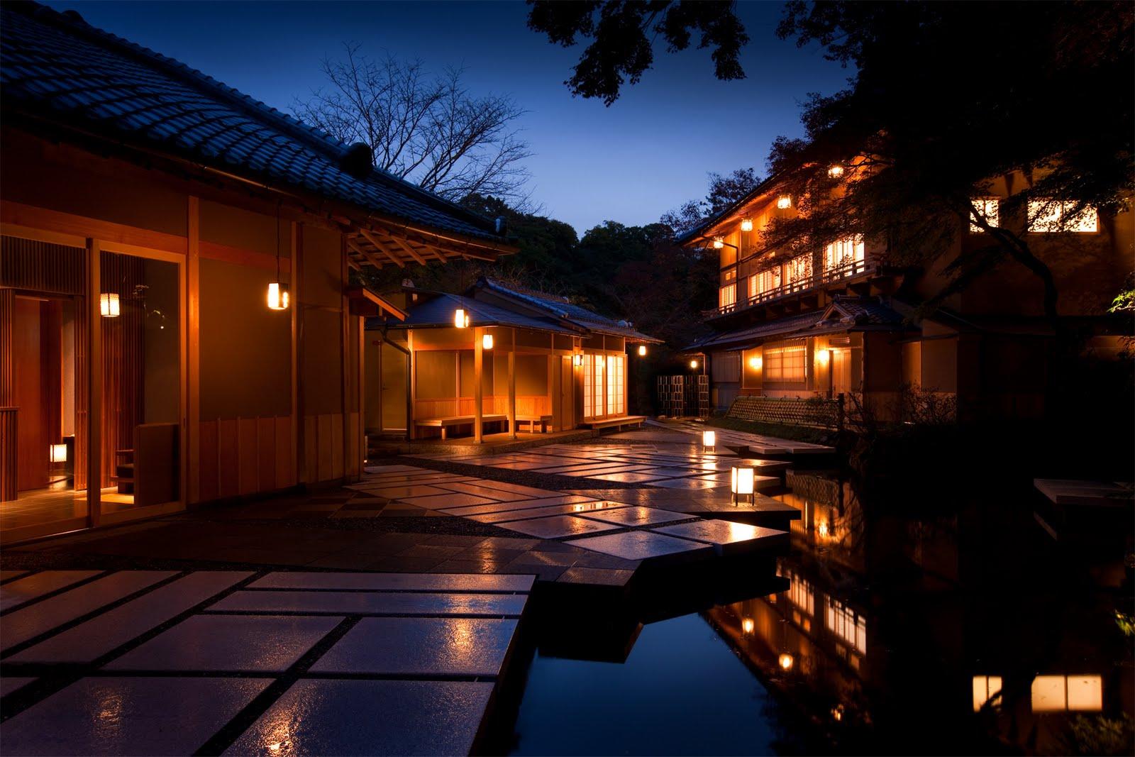 kyoto wallpaper bonsai wallpaper kyoto by night illustration wallpaper 1600x1067