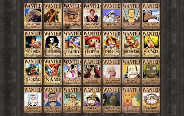 One Piece Wanted Poster wallpaper wallpapers   4K Ultra HD Wallpapers 600x380
