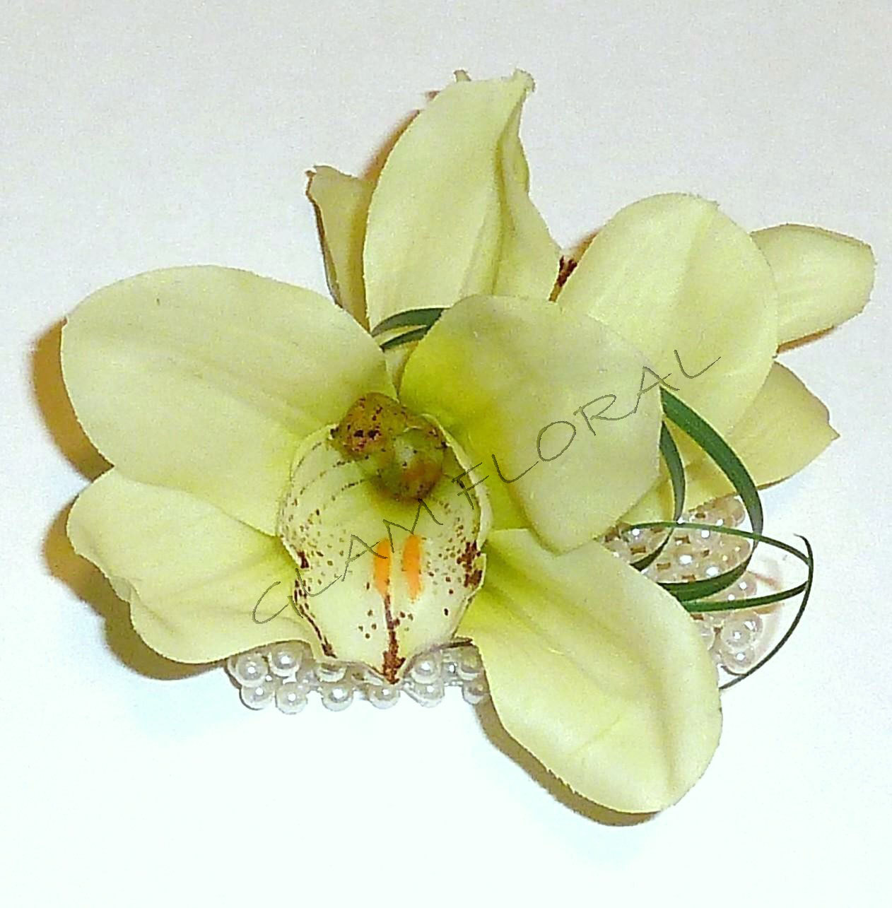 Wrist Corsage Realistic Cymbidium Orchids In Yellow Wallpaper Picture 1262x1285
