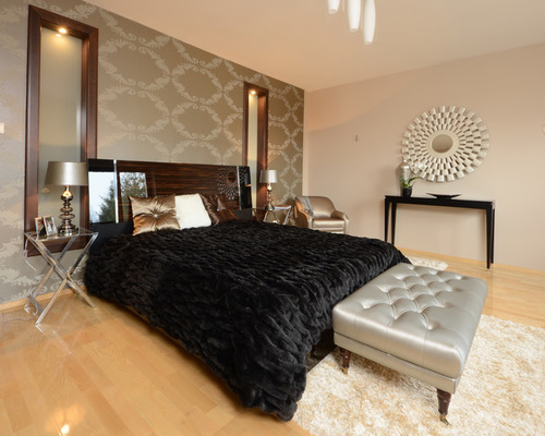 Velvet Wallpaper Home Design Ideas Renovations Photos 500x400