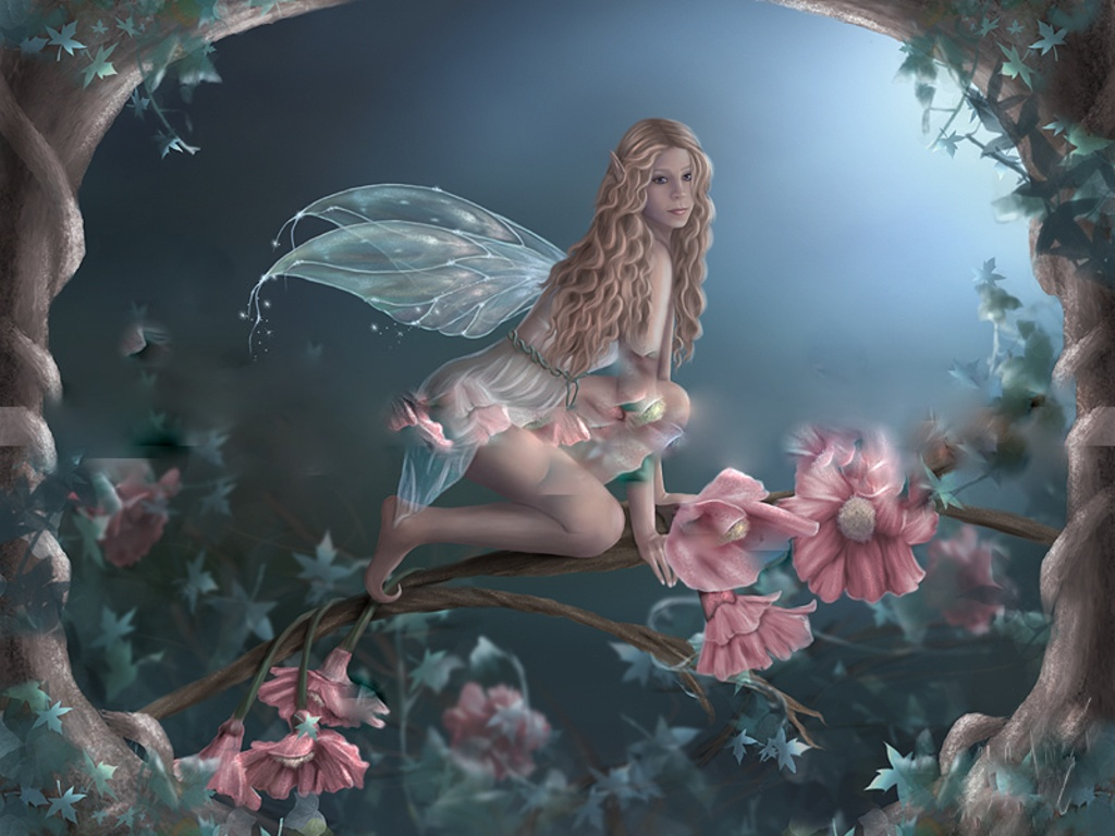 Enchantted flower fairy jpg Wallpaper hegm8 1024x768