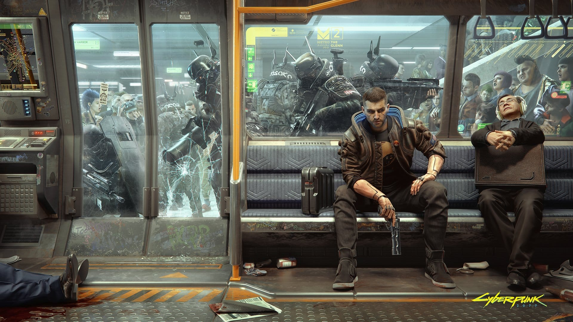 New Cyberpunk 2077 Wallpaper Shows How Metro Commuting Works 1920x1080