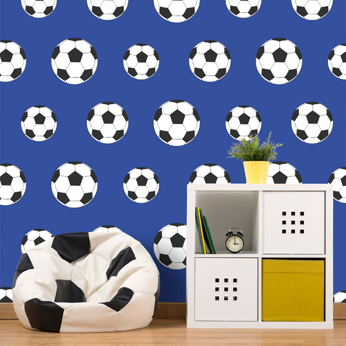 GOAL FOOTBALL WALLPAPER DARK BLUE 9721 BELGRAVIA DECOR KIDS BOYS 1200x1200