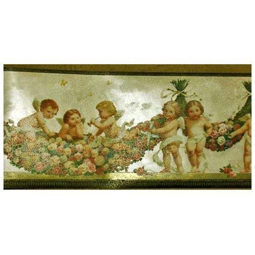 Victorian Cherubs in the Clouds Wallpaper Border VS104362 500x500