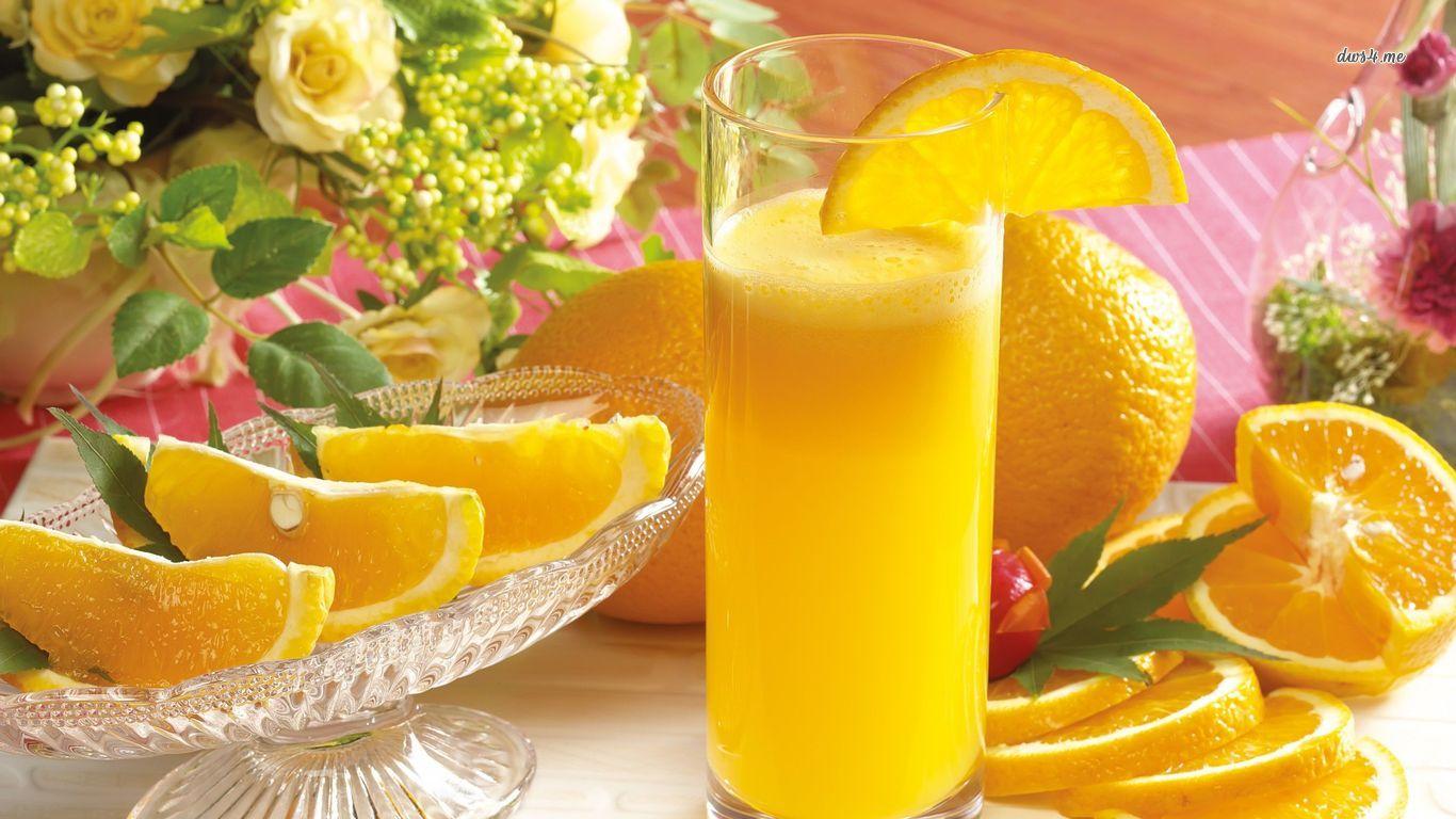 Orange juice wallpaper   Photography wallpapers   27730 1366x768