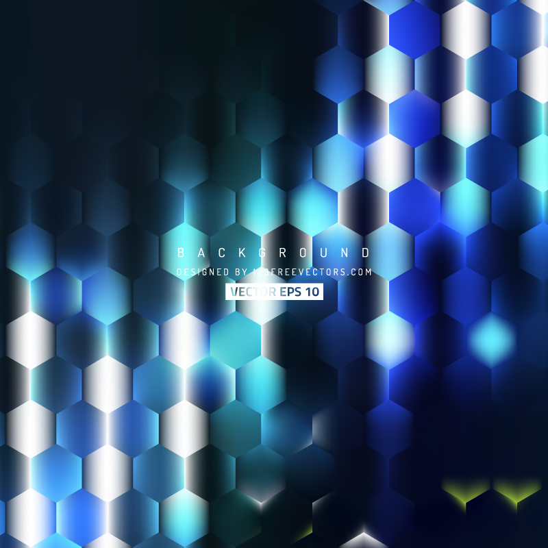Blue Black Hexagon Background Vector by 123freevectors on 800x800