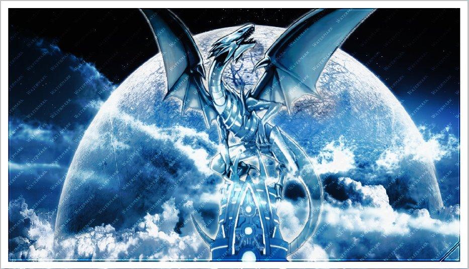 73 Blue Eyes White Dragon Wallpaper On Wallpapersafari