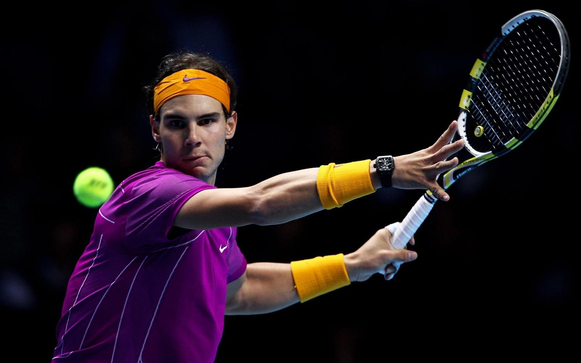 Rafael Nadal in Tennis Match Wallpapers HD Wallpapers 1920x1200
