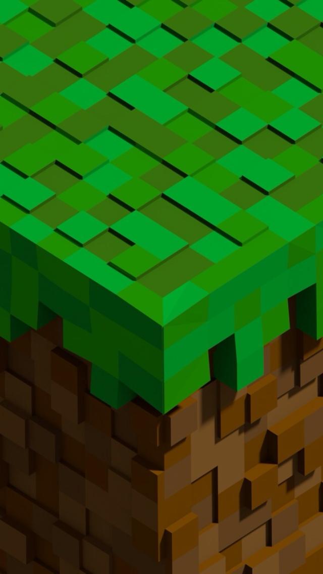 Free Download Minecraft Block Iphone 5 Wallpaper 640x1136