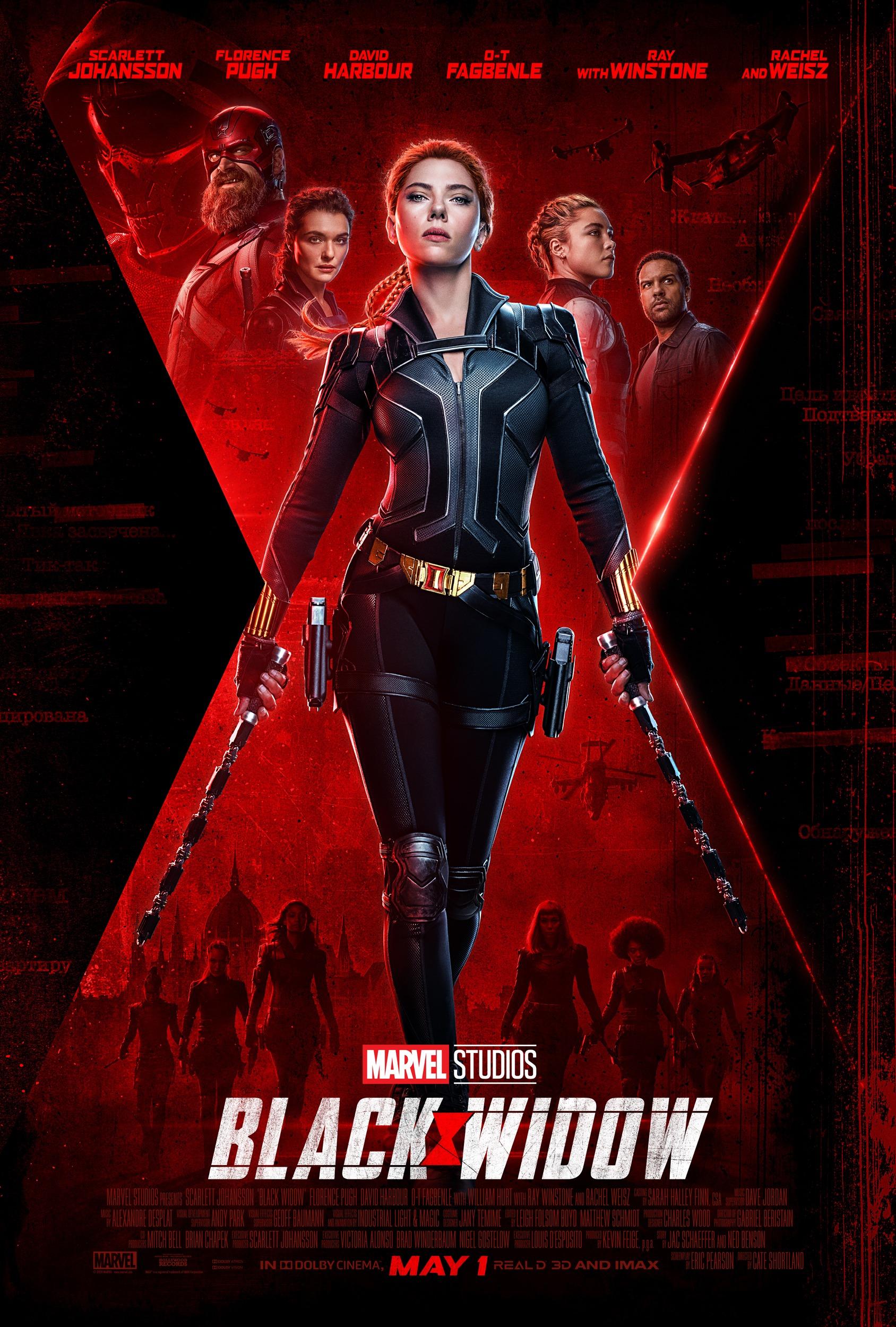 Black Widow Movie Poster Marvel Cinematic Universe Portrait 1688x2500