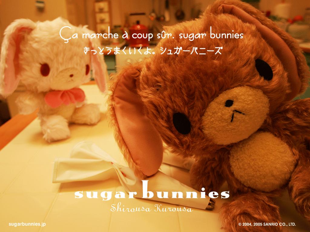 Sugar Bunnies Kawaii Screensaver Wallpaper Kawaii Wallpapers 1024x768