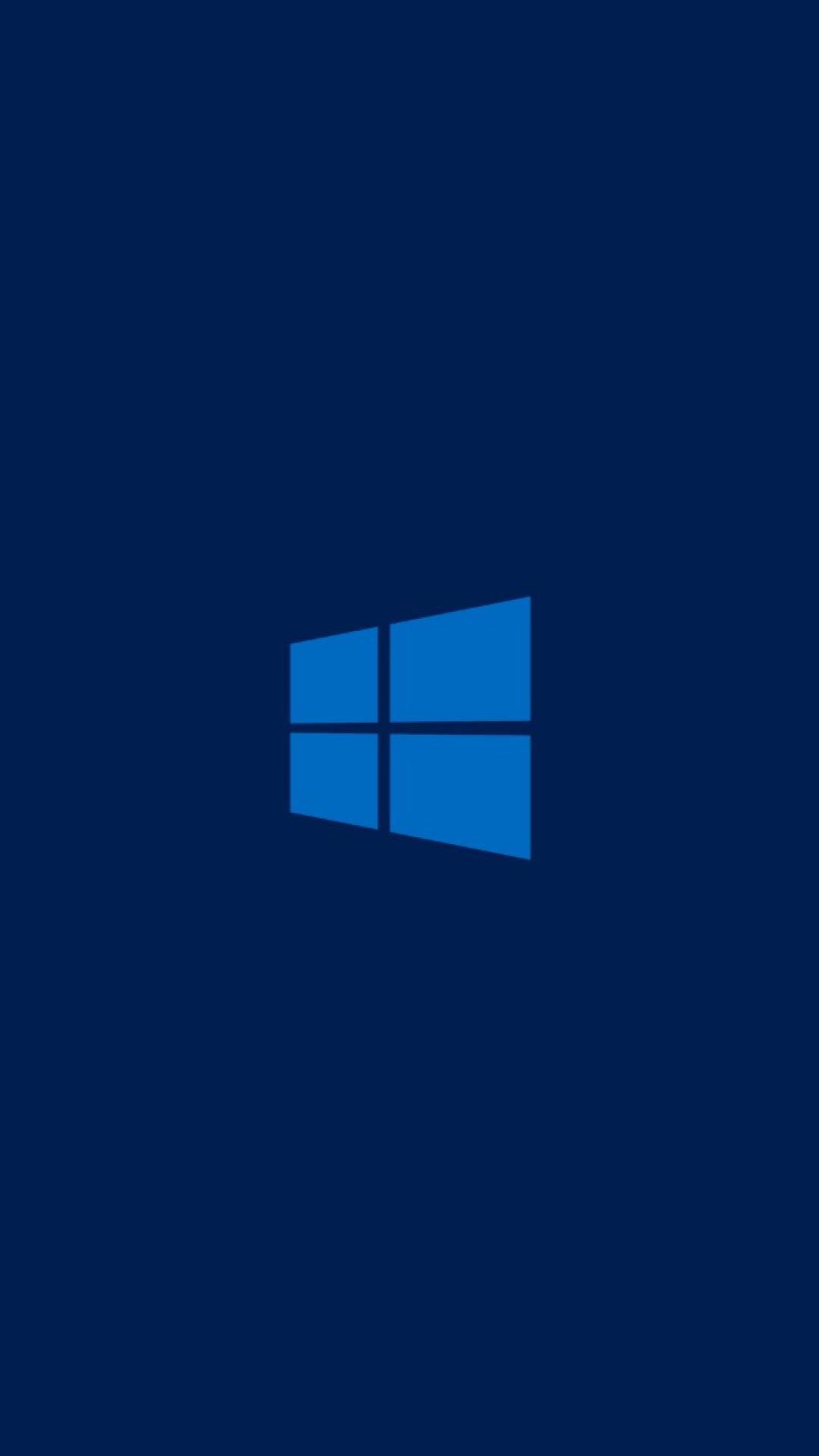 Blue minimalistic metro windows 8 dark clean logo wallpaper 18803 1080x1920