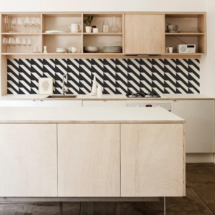 Wallpaper backsplashes from KitchenWalls Door Sixteen 740x740