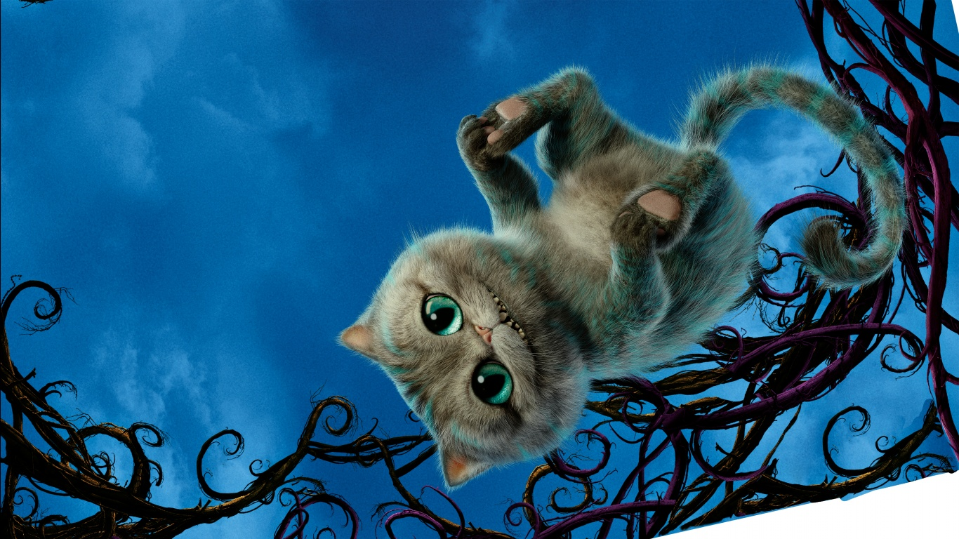 Cat Alice Through the Looking Glass Wallpapers HD Wallpapers 1366x768