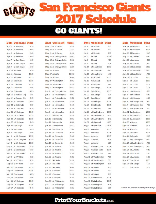 It's just a photo of Smart Sf Giants Schedule Printable