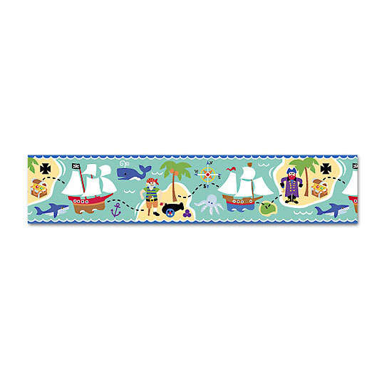Discontinued Olive Kids Pirates Wallpaper Border 536x536