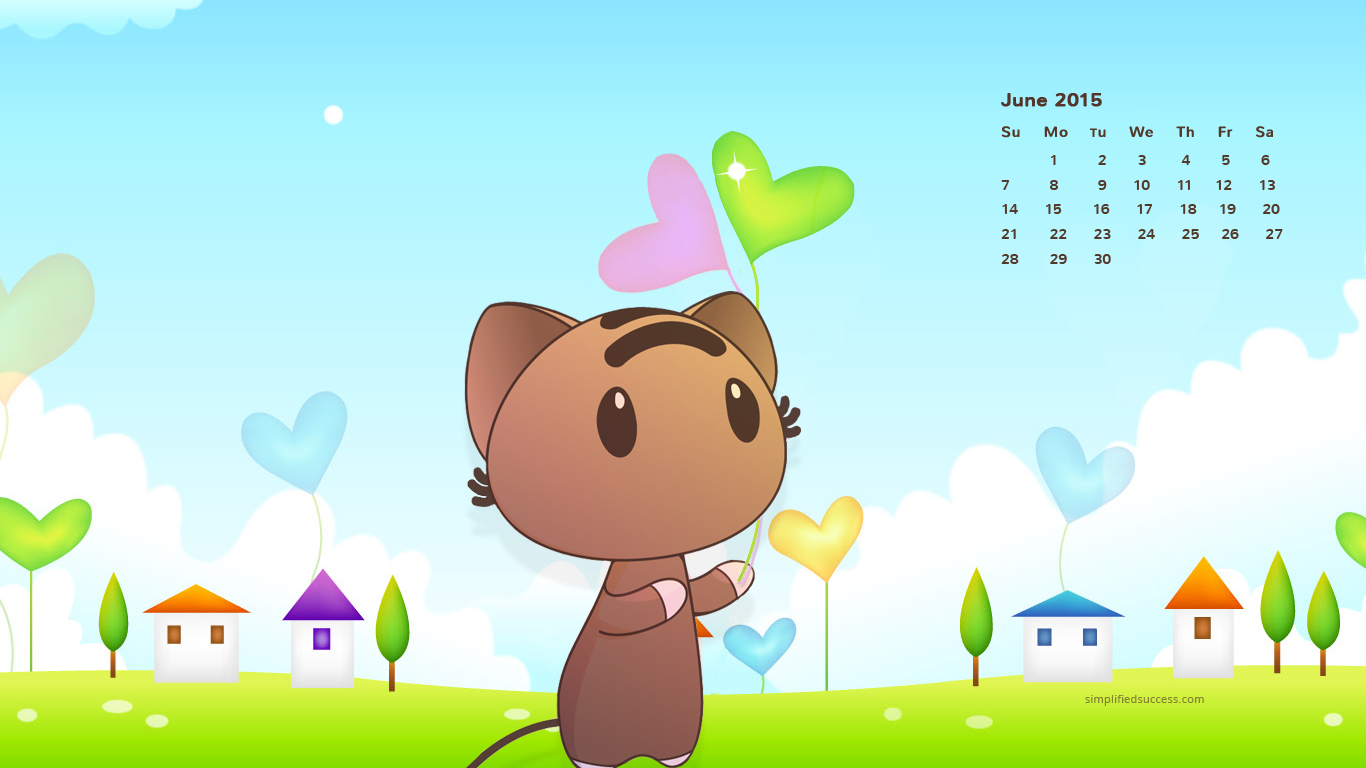 Desktop Wallpapers Calendar June 2015 1366x768