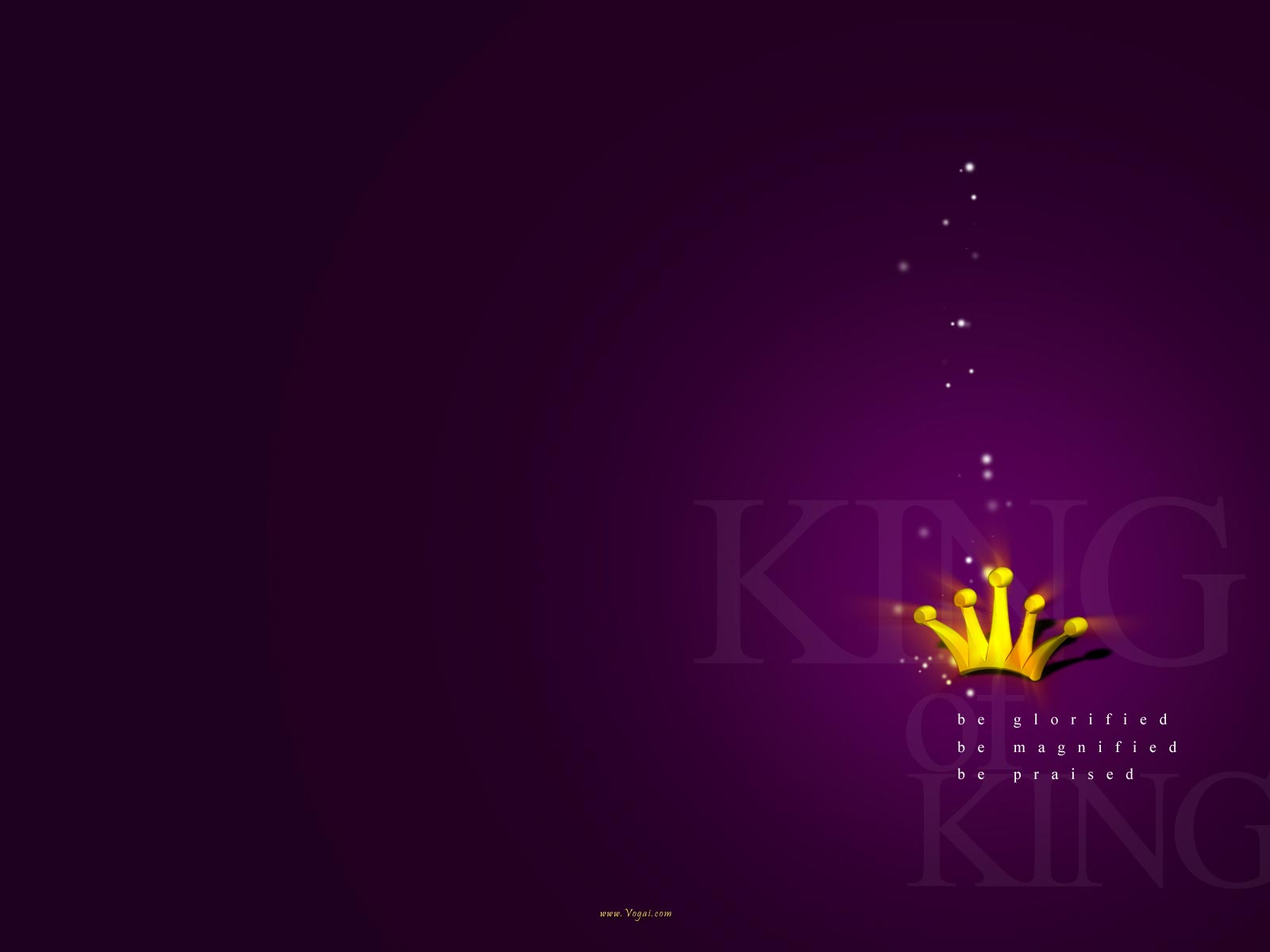 Christian Graphic King of Kings Violet Background Wallpaper 1600x1200