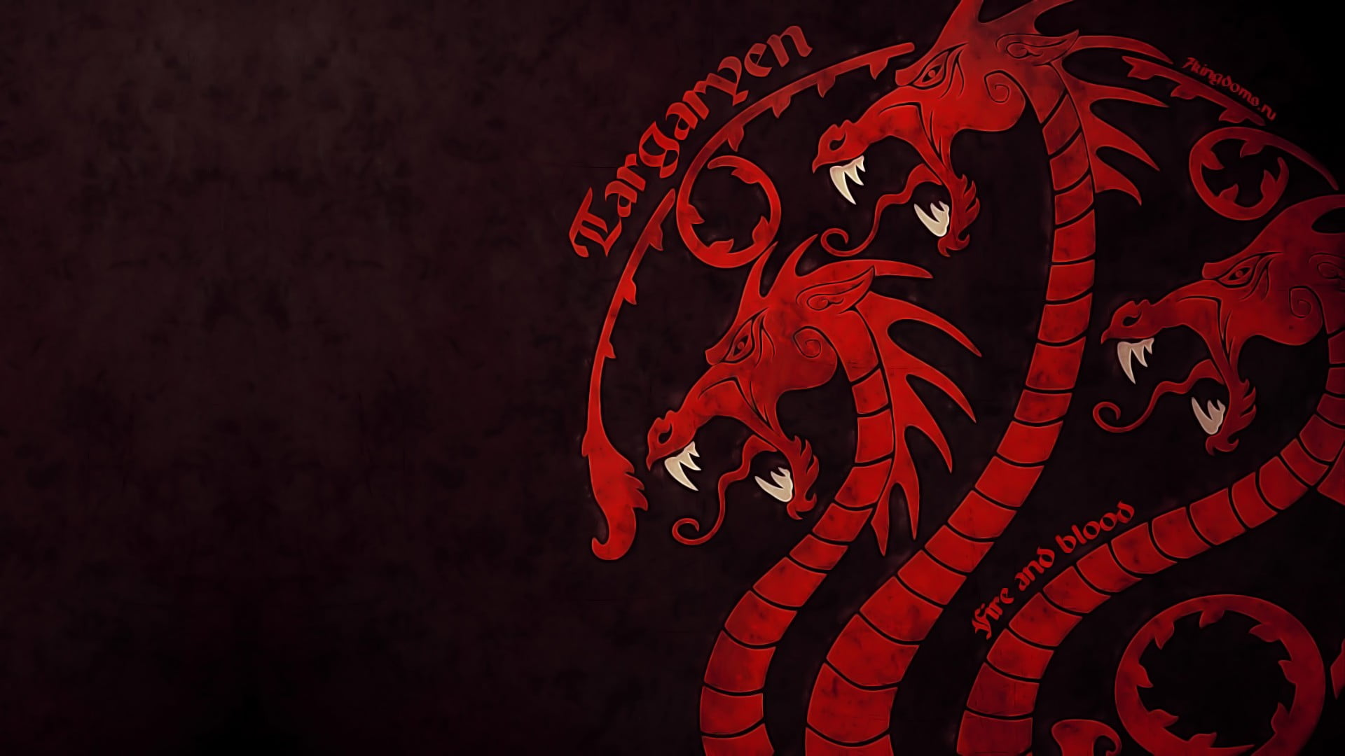 Game of Thrones House Targaryen sigil HD wallpaper Wallpaper Flare 1920x1080