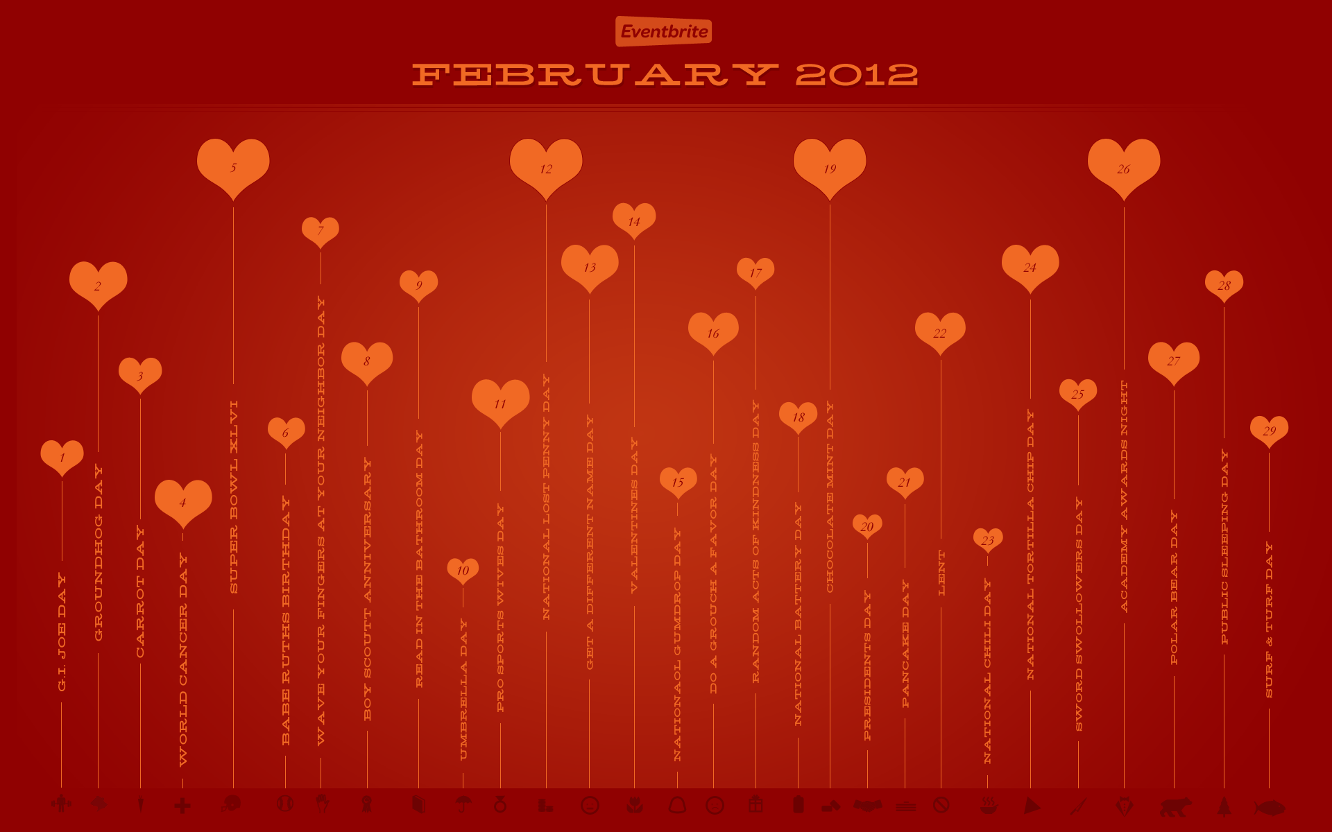 Eventbrite February Desktop Wallpaper for Valentines Day   Eventbrite 1920x1200