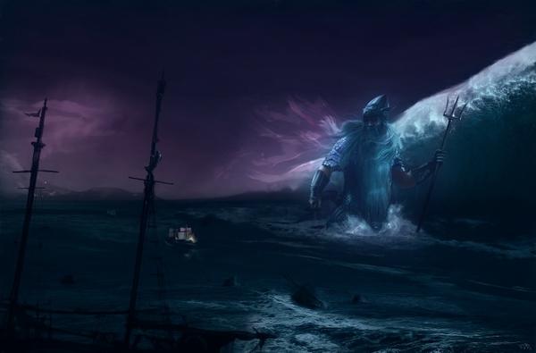 fantasy art silmarillion jrr tolkien sea ulmo Wallpaper 600x395