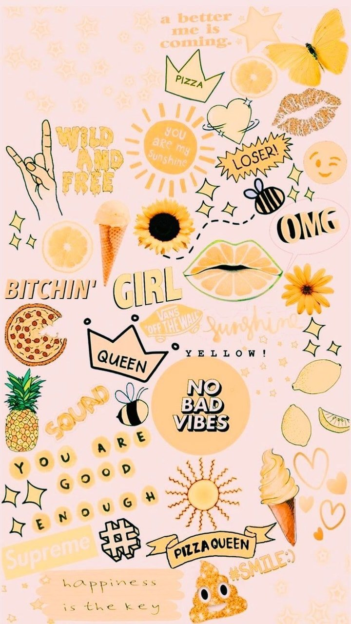 Wallpaper Yellow And Aesthetic Image   Cute Wallpapers For Teens
