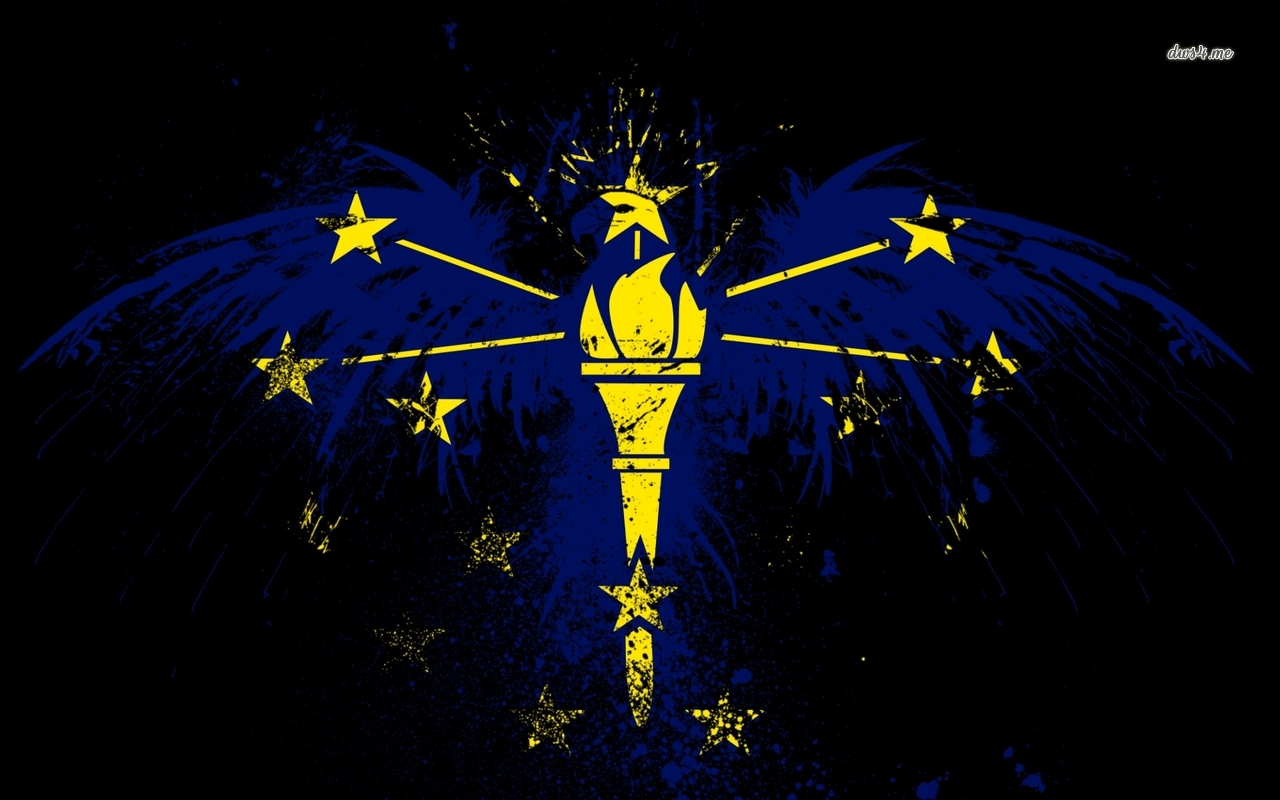 Flag of Indiana wallpaper   Artistic wallpapers   40454 1280x800