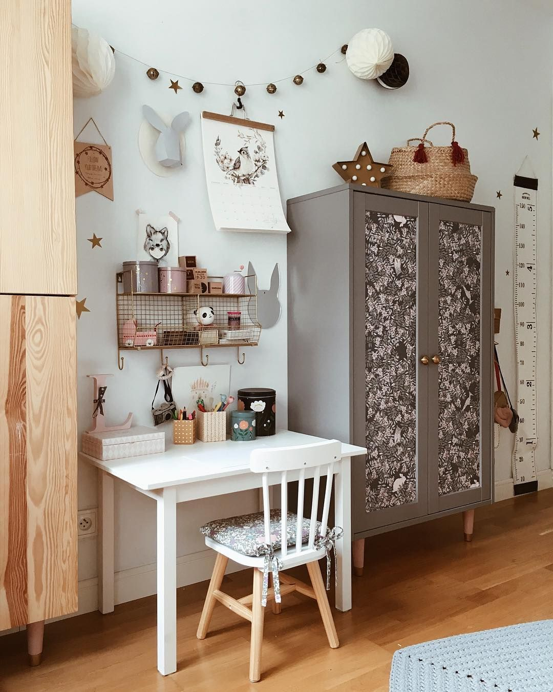 DIY   wallpaper wardrobe doors in the kids room Wallpaper Fauna 1080x1350