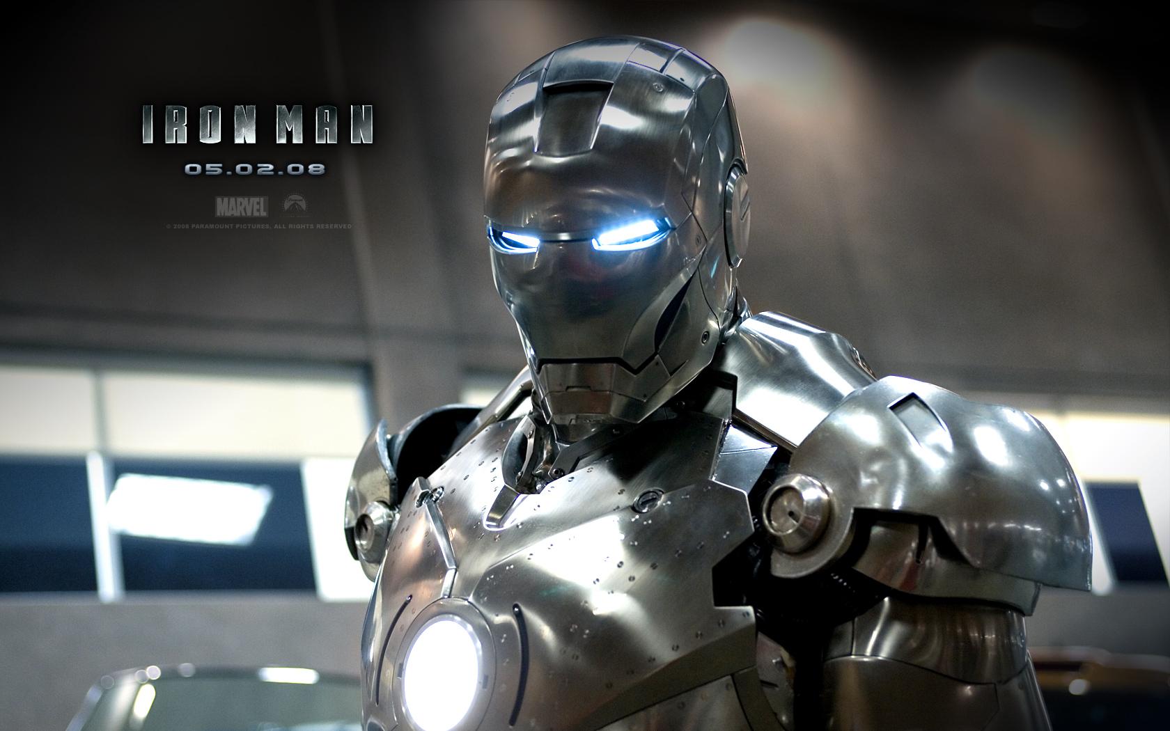 Download Iron Man 2008 wallpaper Iron Man Silver 1680x1050