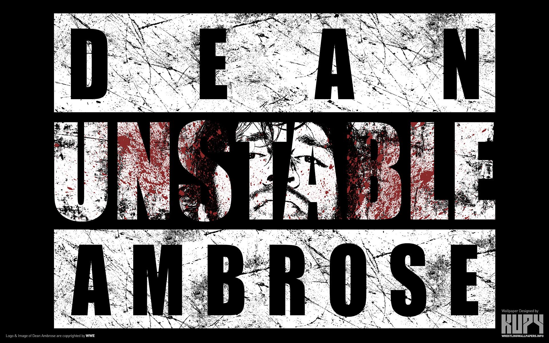 Pin Unstable Dean Ambrose Logo 1920x1200