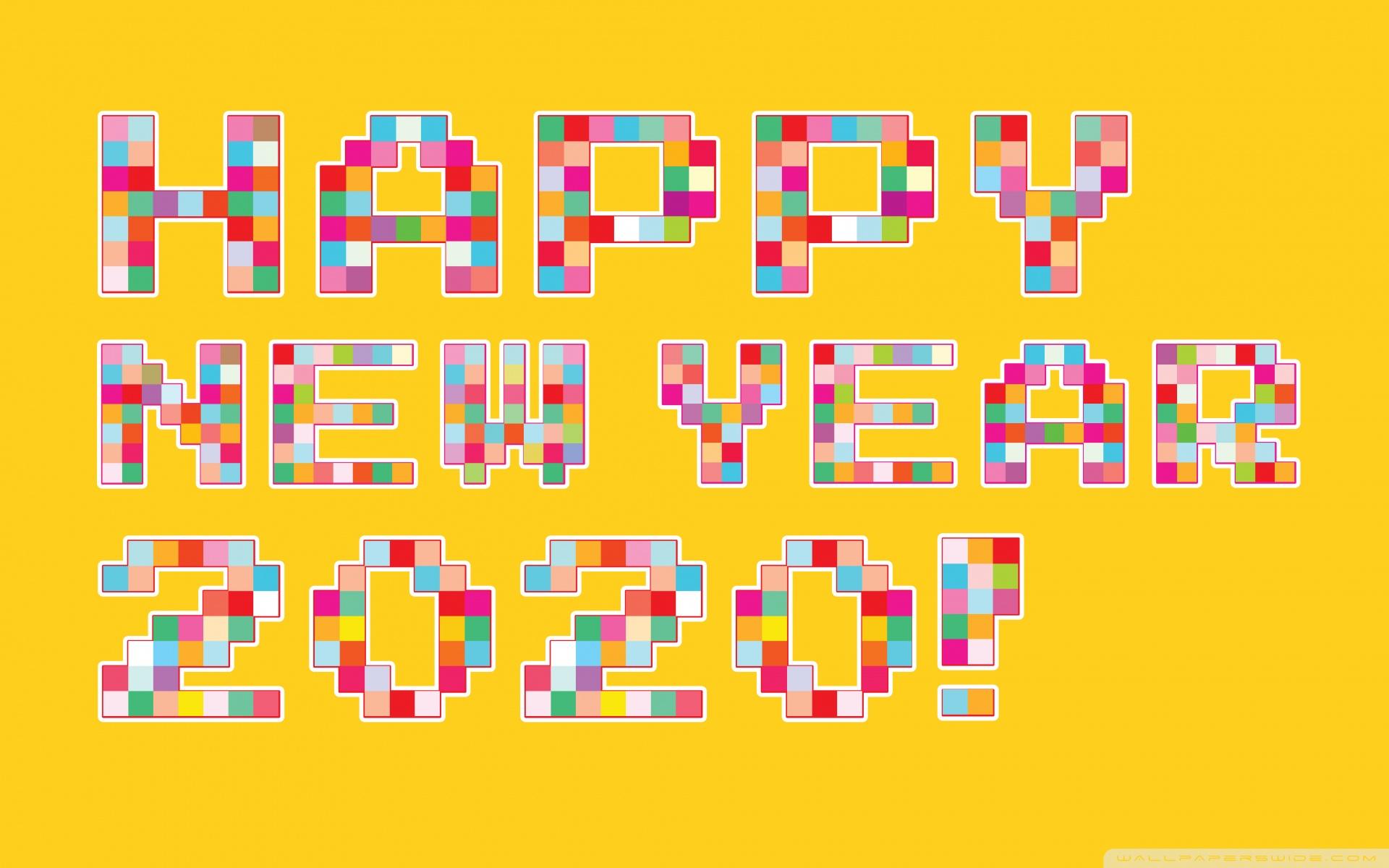 Happy New Year 2020 Pixel Art 4K HD Desktop Wallpaper for 4K 1920x1200