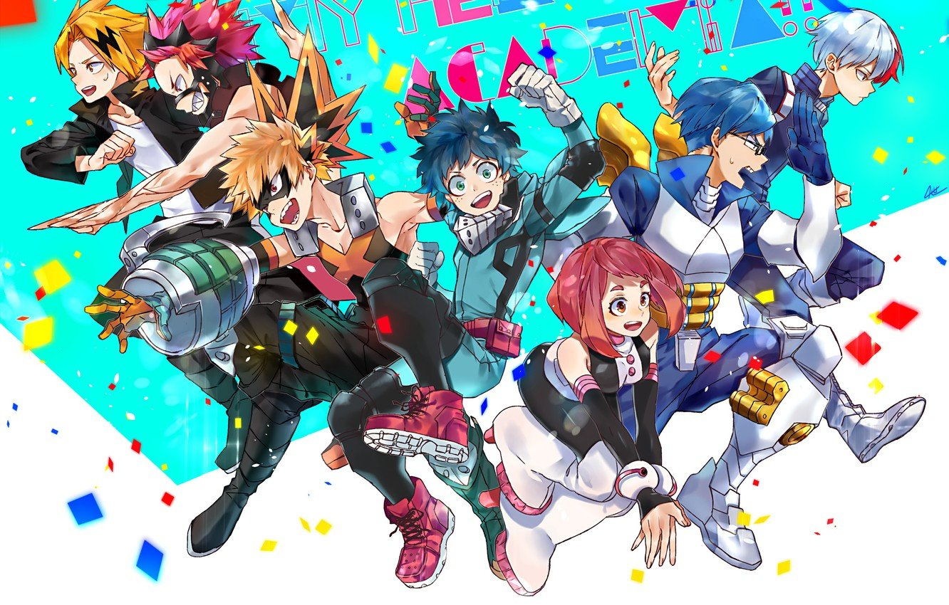 Wallpaper class characters students My Hero Academia Boku No 1332x850