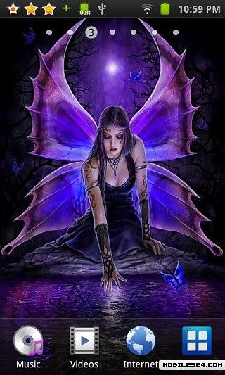 Wallpaper Android App download   Download the Gothic Fairy 320x533