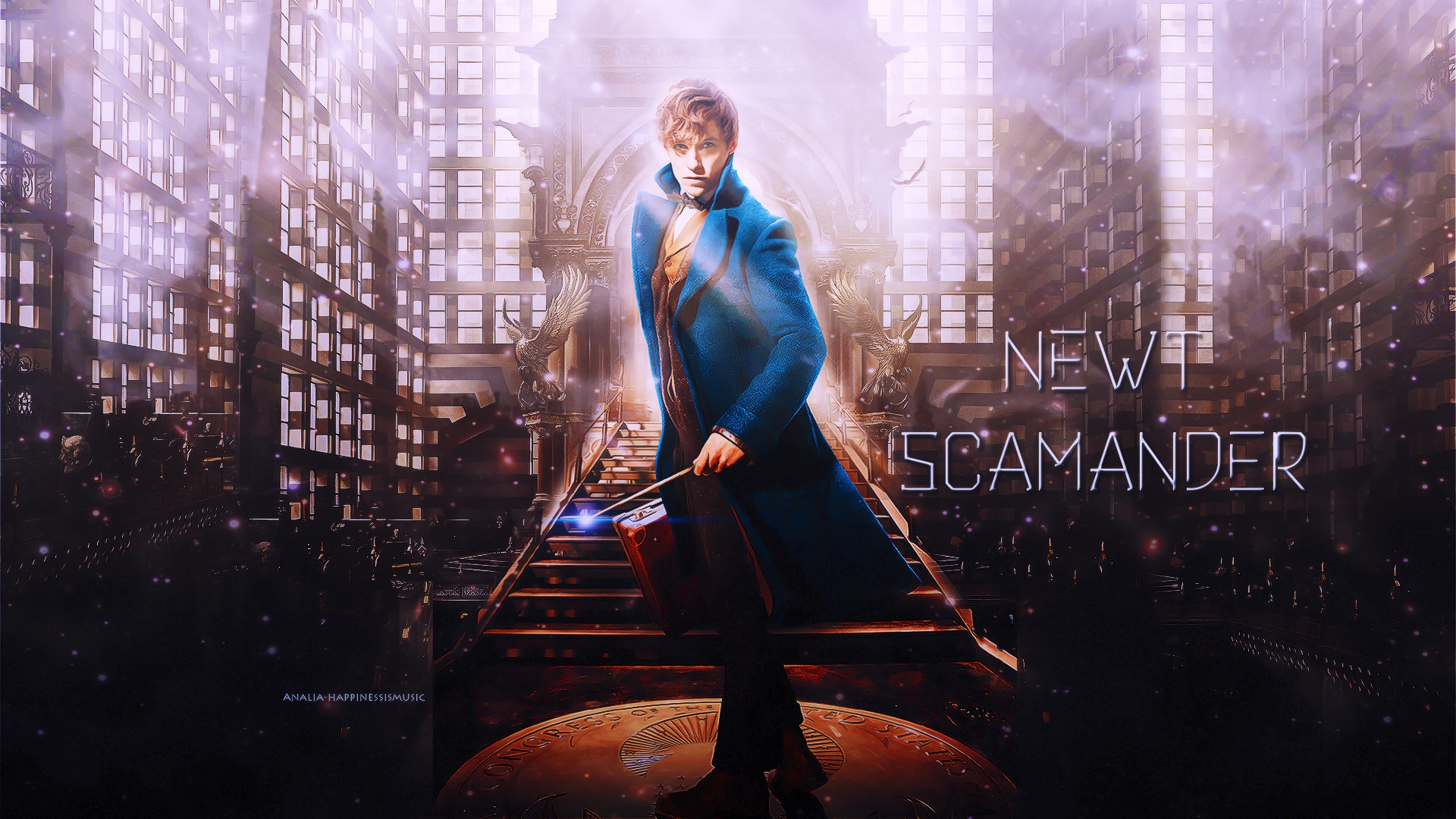 Newt Scamander in Fantastic Beasts Wallpaper   Wallpaper Stream 1920x1080