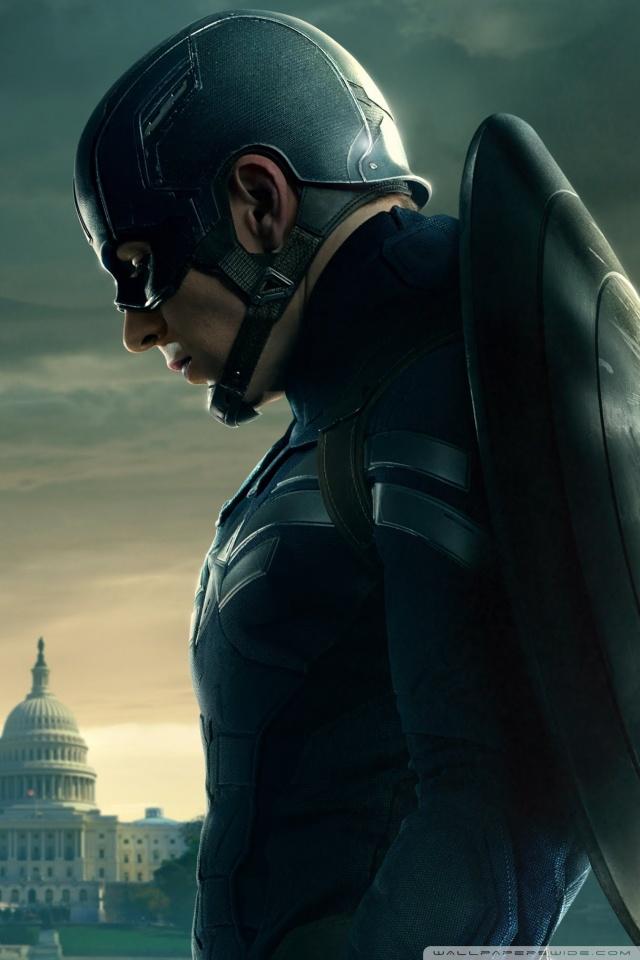 Captain America The Winter Soldier 2014 Captain America 640x960
