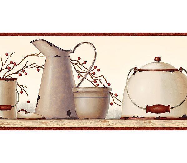 country kitchen wallpaper border Wallpaper borders Pinterest 600x525