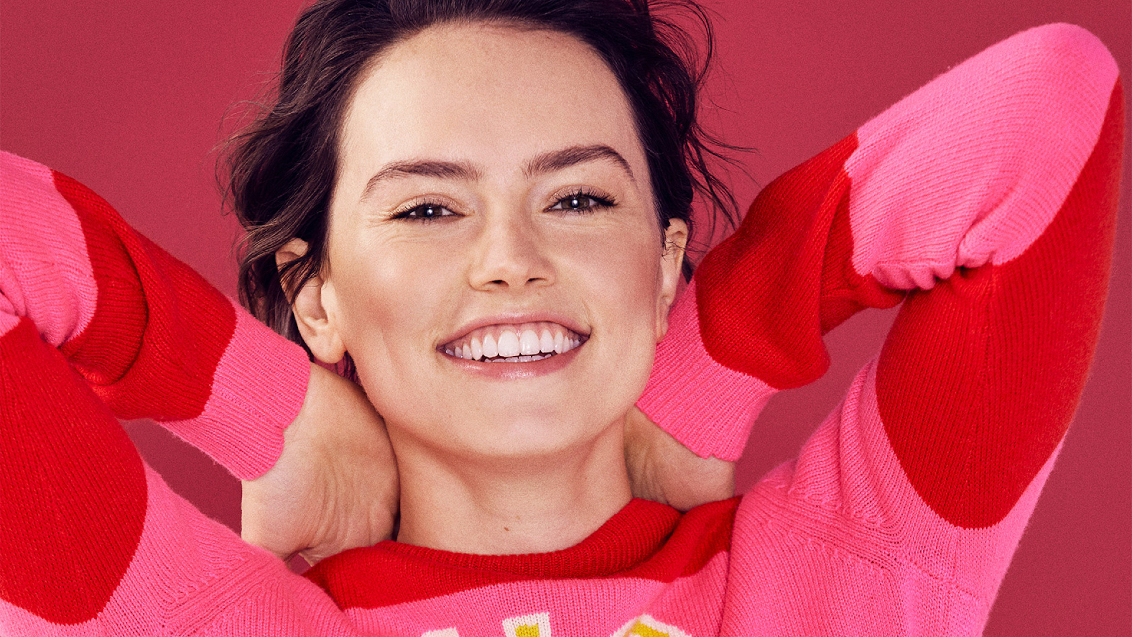 3840x2160 Cute Daisy Ridley 4K Wallpaper HD Celebrities 4K 3840x2160