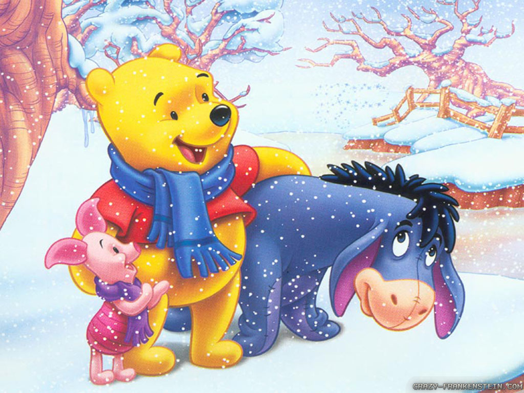 Wallpaper: On ice winnie the pooh Christmas wallpapers