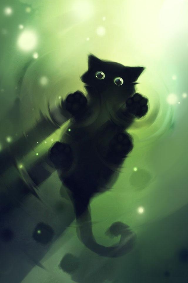 [48+] Black Cat Screensavers and Wallpaper on WallpaperSafari