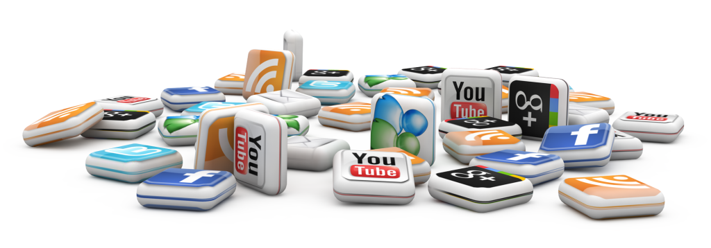 Social Media 3D Icon HD For Wallpapers 3866 Wallpaper ForWallpapers 1024x358