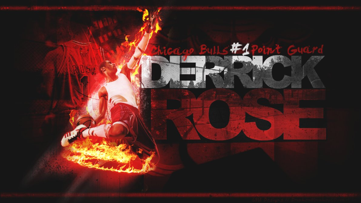 Derrick Rose Chicago Bulls by DrunkenMoonkey 1191x670