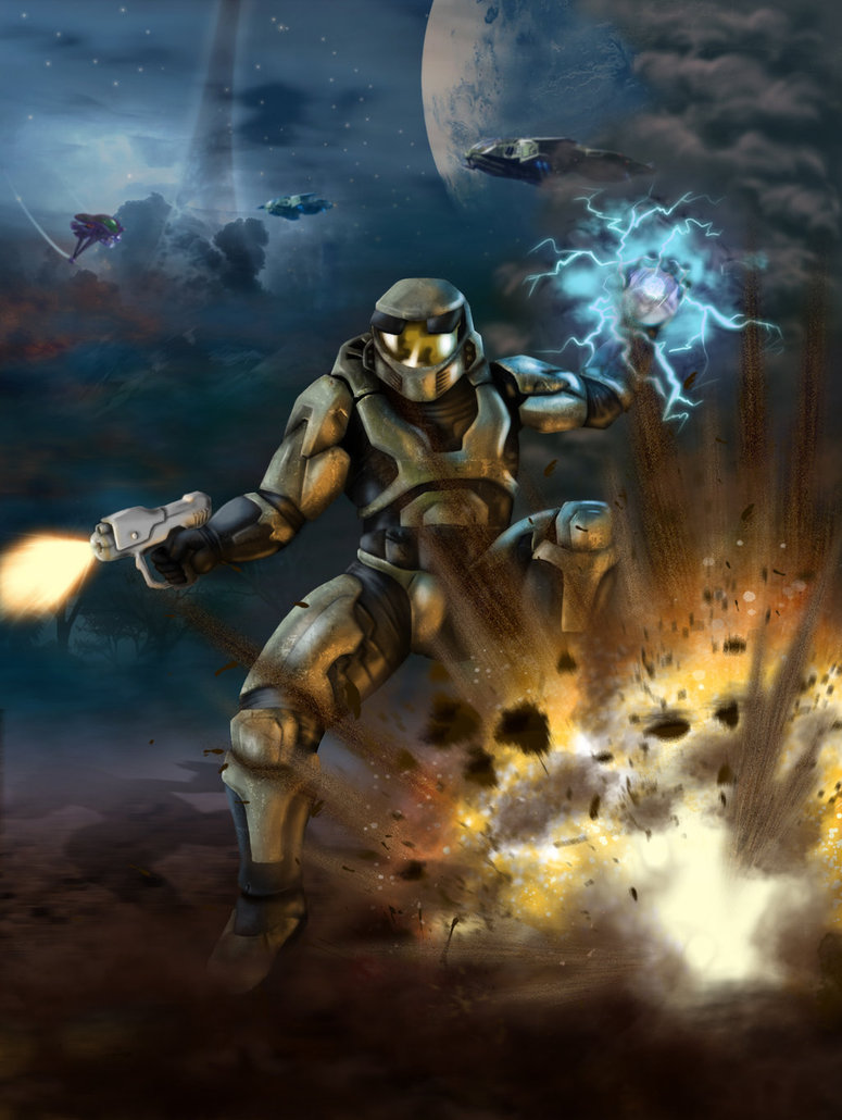 Halo Combat Evolved Fan Art by Geocross 775x1030