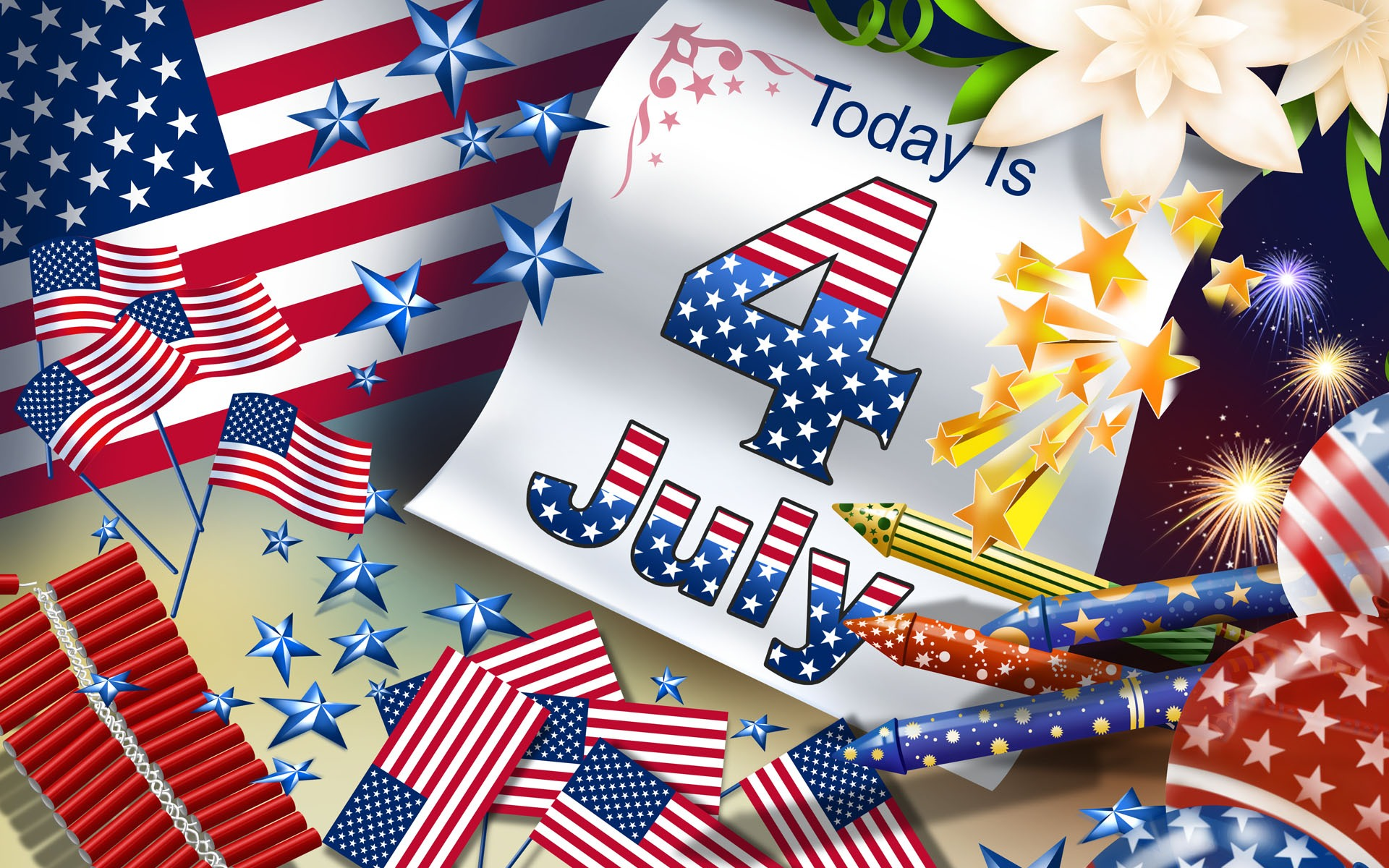 Happy 4th Of July computer desktop wallpapers pictures images 1920x1200