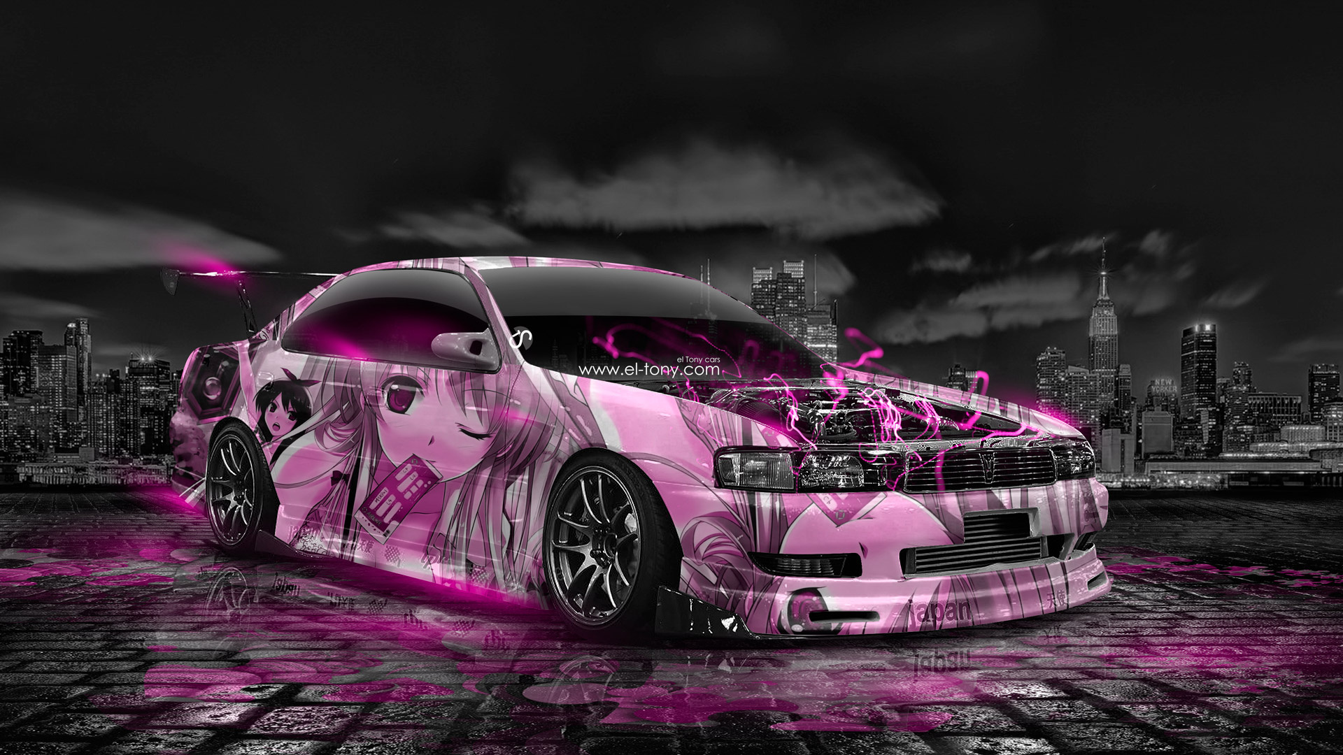 Wallpaper Cars photo picture Tony Kokhan Toyota Chaser 1920x1080