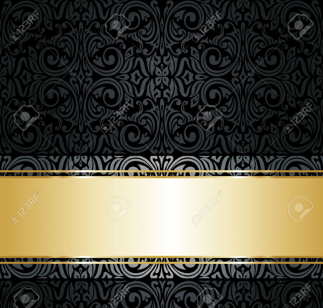 Black And Gold Vintage Wallpaper WallpaperHDCcom 1300x1239