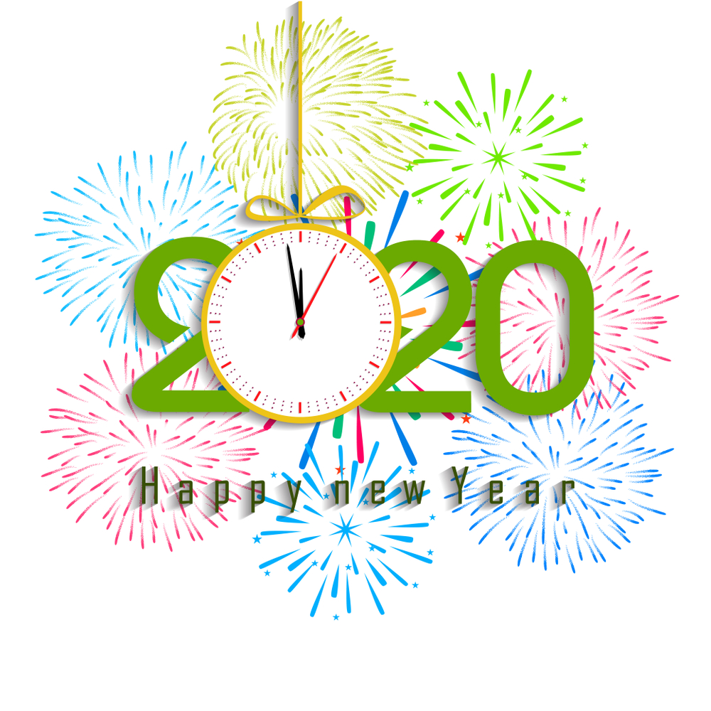 Happy New Year 2020 Wallpapers   Top Happy New Year 2020 1000x1000