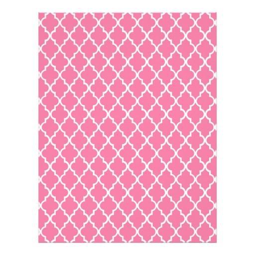Gerber Daisy Pink White Moroccan Trellis Pattern Custom Letterhead 512x512