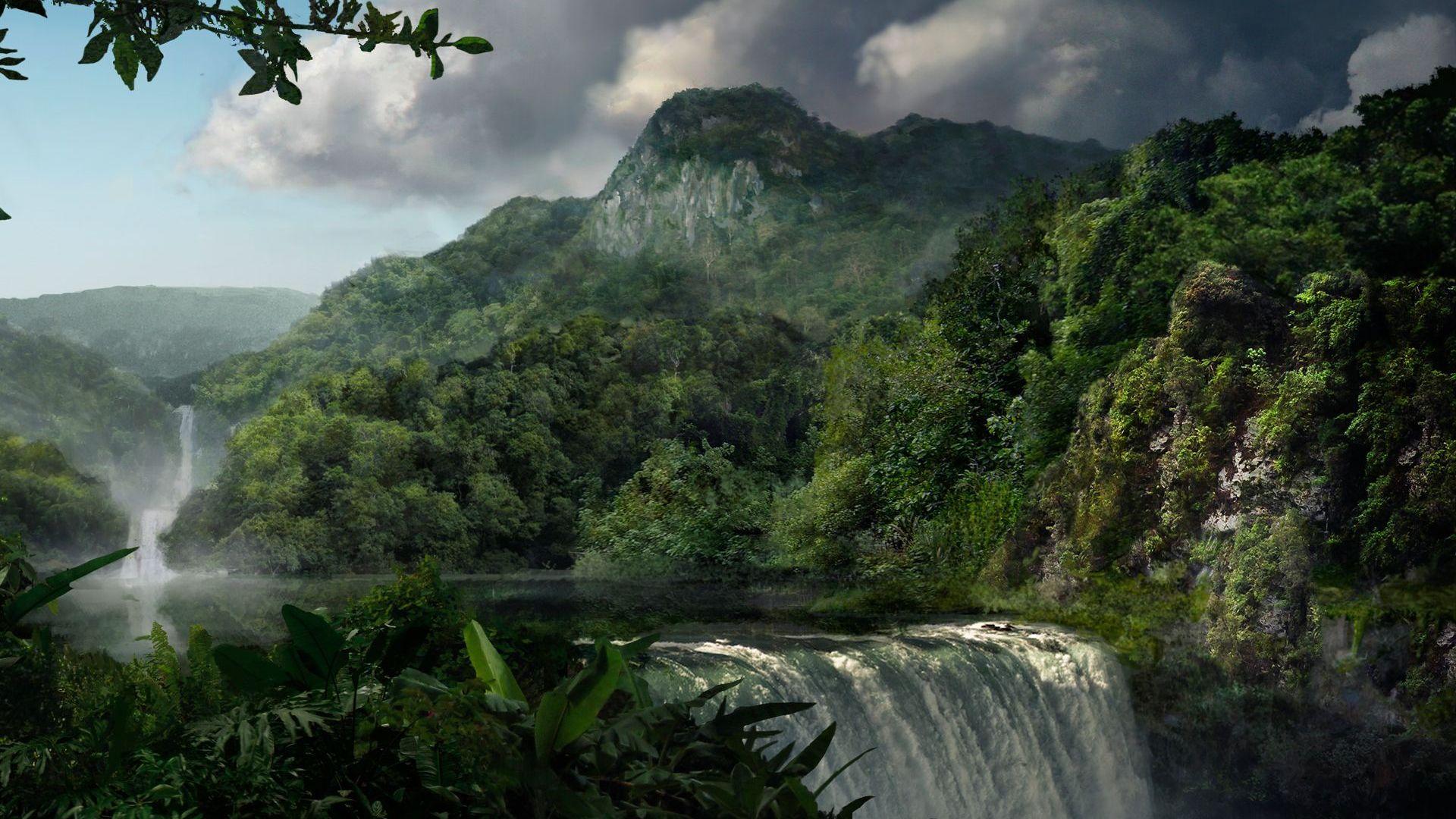 31 Rainforest Waterfall Wallpaper On Wallpapersafari
