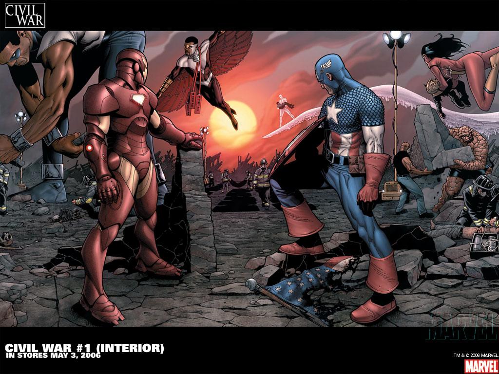 Civil War Wallpaper Marvel Comics Wallpapers 1024x768 Pictures