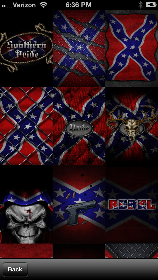 Southern Pride Rebel Flag WallpaperLifestyle   iPhoneiPad App 640x1136